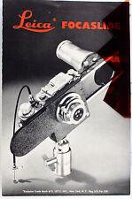 Original Leitz NY Sales Brochure for Leica Focaslide - 4 pages - Nov. 1949