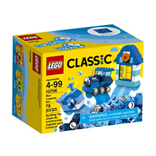 New LEGO Classic Blue Bricks Creativity Box Building Kit 75 Pieces for Kids Play