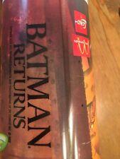 BATMAN RETURNS hard plastic Glass w McDonalds & Coke Logos 1992