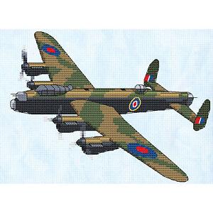 "Lancaster Cross Stitch Design (W204mm x H152mm (W8"" x H6""), kit or chart)"