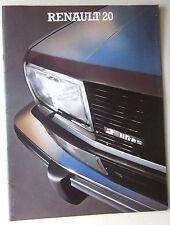 1977-80 RENAULT 20 TL - GTL 1647cc - TS - TS Automático 1995cc folleto italiano