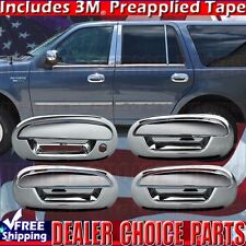 For FORD F150 1997-2003 Expedition 97-2002 Chrome 4 Door Handle Covers KEYPAD
