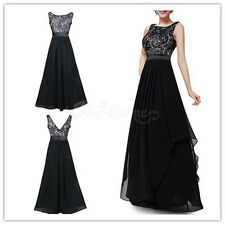 Long Women's Lace Evening Party Maxi Formal Bridesmaid Prom Gown Cocktail Dress