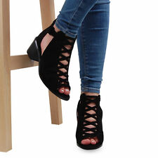 Buckle Block Heel Faux Suede Upper Ankle Boots for Women