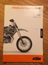 KTM 50 SX 50SX 2006 manual usuario propietario instrucciones mantenimiento