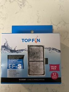 "NEW TOP FIN EF-S Element Filter Cartridges # 12 VALUE PACK ~Size 2.1"" x 3.7"" BF5"