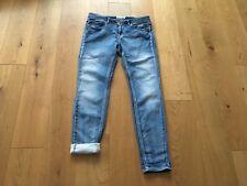 H&M LOGG Jeans Sweat Sweatjeans Gr.M 38 Hose Denim Treggings Sweathose blau TOP!