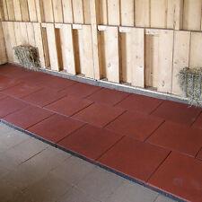 4m² Stallmatte Stallmatten Gummistein rot, Stärke: 3cm