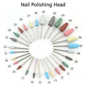 Nail Drill Set Bits Ceramic Head Nail Cuticle Polishing Manicure Tools Set D TC