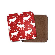 Red Reindeer Coaster - Christmas Snow Flake Deer Stag Cool Fun Xmas Gift #14411
