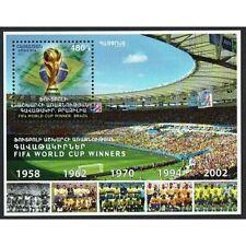 FR2204 - 2017 Armenia Brasile Mondiali di Calcio foglietto