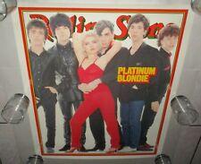 "Blondie 1979 Rolling Stones Cover Rare Poster 24"" x 28 1/2"" Debbie Harry N. Mint"