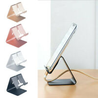Universal Aluminum Desktop Desk Stand Holder Mount For Cell Phone &Tablet Pad UK
