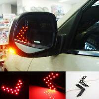 1Pair 14SMD LED Arrow Panel Car Rear View Mirror Indicator Turn Signal Lights SR