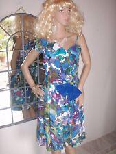 robe vintage imprimée années 60 marque AMANDINE   ref 1762