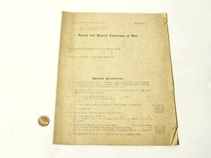 c1910 Revised Edition Special & General Condition of Sale AUCTION Sales