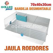 JAULA ROEDORES CON BANDEJA DESMONTABLE Y COMEDERO AZUL 70x40x30 cm L521 1960