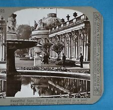 Stereoview Photo Germany Beautiful Sans Souci Palace & Gardens Potsdam Realistic