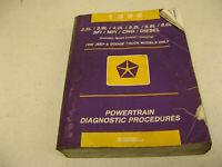 1996 Dodge Truck and Jeep Models Powertrain Diagnostic Procedures Manual Shop