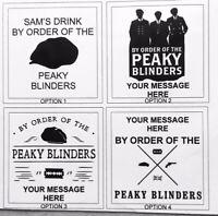 Peaky Blinders Laser Engraved Personalised Slate Coasters