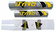 DYNO old school BMX padset pads - GRID - GRAY GREY YELLOW BLACK *MADE IN USA*