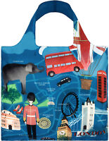 "LOQI Urban Collection ""London"" Waterproof Reusable Eco Shopping Tote Handbags"