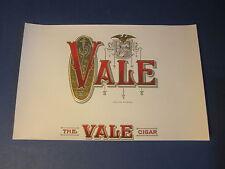 Original Old Antique - Vale - Inner - Cigar Label