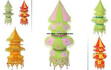 12 PC Wholesale Lot Cotton Lighting Lamp Shade 5 Step Mirror Embroidered Decor