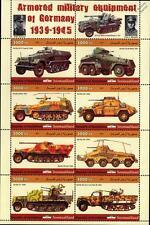 La Segunda Guerra Mundial Sd. KFZ. Sonderkraftfahrzeug alemán vehículo acorazado/hoja de sellos de coche 2011