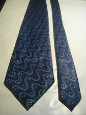 Guerin Men's Vintage Silk Tie in Blue with an Abstract Pattern