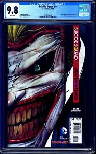 Suicide Squad #14 CGC 9.8 DEATH OF THE FAMILY HARLEY JOKER DIE-CUT COVER NM/MT