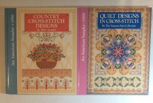 An American Sampler 1989 & 1990 Country Cross Stitch Designs HB