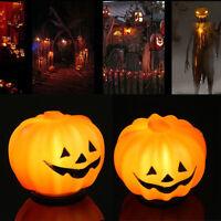 1x Orange Halloween Pumpkin Jack-O-Lantern LED Light Festival Home Prop Decor yu