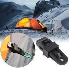 5xTarp Tighten Tool Survival Camping Tent Rope Holder Alligator Clip Clamp BLACK