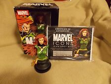 Diamond Select Marvel Icons JEAN GREY Mini Bust LIMITED 419/2000 COA X-Men