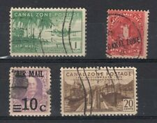 CANAL ZONE, 4 DIFFERENT STAMPS, CV 60 EUROS