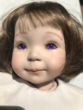 """""""Jenny II"""" porcelain doll By Dianna Effner 1993 Expressions 19"""" Purple Eyes"""