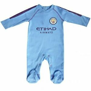 Manchester City  2019/20 Official Baby SleepSuit Baby Grow Bodysuit (0 -18 Mths)