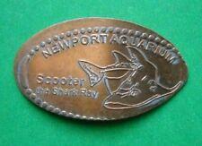 Newport Aquarium elongated penny KY USA cent SCOOTER Shark Ray souvenir coin