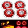 4 Stück 19 LED Rückleuchte 12V/24V Rücklicht Bremslicht Stopplicht Anhänger LKW