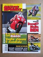 MOTOSPRINT n°31  2001    [Q22] DUCATI MONSTER 620 BUELL FIREBOLT XB9X