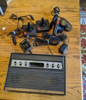 Atari 2600 Sears Tele-Games Video Arcade Console Vtg Bundle lot 2 Controllers