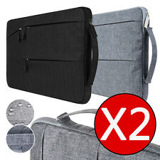 2 X(Black & Grey) Laptop Sleeve Carry Case Cover Bag For Tab Mac Air/Pro 13 inch