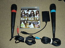 DISNEY SING IT PARTY HITS PLAYSTATION PS3 + OFFICIAL WIRED SINGSTAR MICROPHONES