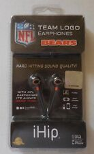 NFL Team Logo Earphones Chicago Bears - iHip For iPod, iPhone, pm 3 player New
