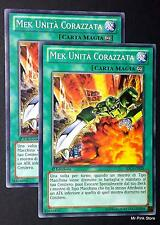 Set 2X MEK MUNITA' CORAZZATA Machina Armored Unit Comune mazzo deck ITA YUGIOH
