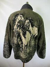 G3686 VTG Men's Woolrich Horses Full-Zip Winter Jacket Made in USA Size XL