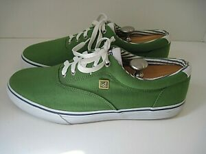 Sperry Top- Sider Men's Apple Green Canvas Sneakers Size 13 M