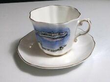 Vtg Royal Grafton Bone China QUEEN OF VICTORIA Cup & Saucer Set~RARE Collectible