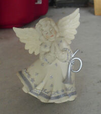 "Cute Resin Sarah's Angel's Melody Figurine 30409 4 1/4"" Tall"